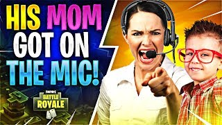 Download HIS MOM GOT ON THE MIC! (Fortnite Battle Royale) Video