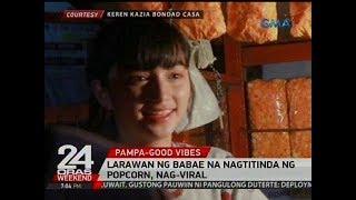 Download Larawan ng babae na nagtitinda ng popcorn, nag-viral Video