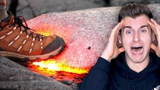 Download Guy Tries To Walk On Hot Lava Video