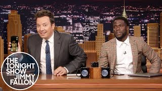 Download Kevin Hart FaceTimes Dwayne Johnson While Co-Hosting The Tonight Show Video