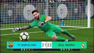 Download PES 2018 | goalkeeper L.MESSI vs goalkeeper C.RONALDO | Penalty Shootout | Barcelona vs Real Madrid Video