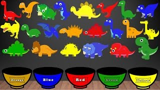 Download Dinosaur Colors Song, Color Sorting For Kids Educational Video Kindergarten Preschool Game Video
