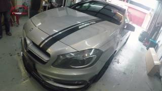 Download Mercedes-Benz W176 A250 Fully Converting A45 AMG and Carbon Fiber Parts Video
