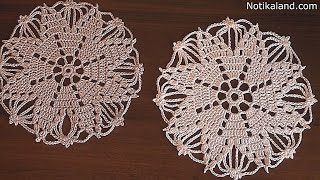 Download Crochet doily Snowflake Tutorial Part 2 Сrochet Сhristmas ornaments free patterns Video