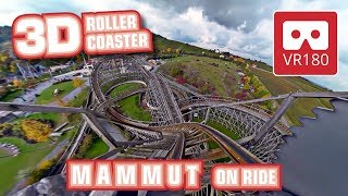 Download VR Roller Coaster VR 180 3D Experience | Mammut VR180 POV onride | Tripsdrill | Achterbahn | Oculus Video