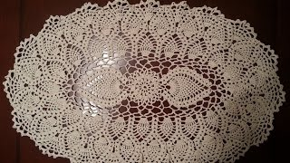 Download Crochet Doily - Oval Pineapple Doily Part 1 Video