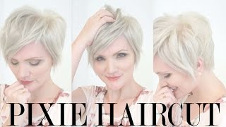 Download Behind the Scenes: Pixie Haircut and Platinum Color Video