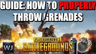 Download GUIDE: How to PROPERLY throw GRENADES in PLAYERUNKNOWN's BATTLEGROUNDS (PUBG) Video