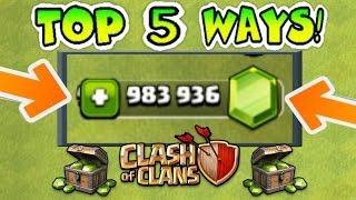 Download TOP 5 WAYS TO GET FREE GEMS IN CLASH OF CLANS LEGALLY (NO HACKS)! | 5 AWESOME STRATEGIES!! Video
