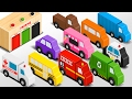 Download Colors for Children to Learn with Wooden Street Vehicles Toys - Colors and Shapes Video Collection Video