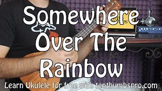 Download Somewhere Over The Rainbow - Easy Beginner Ukulele Tutorial - Iz Video