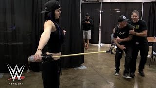 Download Paige literally shocks WWE Superstars on Swerved: WWE Network Video