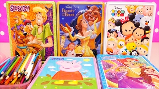 Download Speed Coloring Toys Scooby Doo, Beauty & the Beast, Tsum Tsum, Princesses, Peppa Pig | SWTAD Video