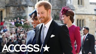 Download Prince Harry's Exes Chelsy Davy & Cressida Bonas Match Meghan Markle At Princess Eugenie's Wedding Video