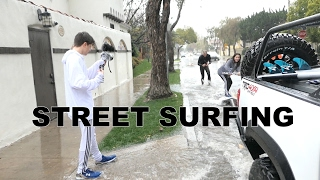 Download SURFING LA STREETS DURING FLOOD!!! Video
