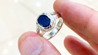 Download Making a BLUE SAPPHIRE RING | Silver Ring | Jewelry Making Tutorial Video