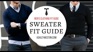 Download How Should A Sweater Fit? - Men's Clothing Fit Guide - Crew Neck Vneck V-Neck Cardigan Video