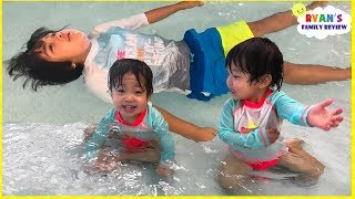 Download Kids Indoor Swimming Pool Playtime with Ryan, Emma, and Kate!!!! Video
