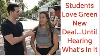 Download Students Love Green New Deal... Until Hearing What's In It Video