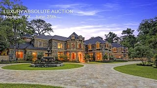 Download Luxury Houston Texas Mansion For Sale By Absolute Auction Video