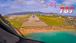 Download Boeing 787 over world famous Maho Beach! Video