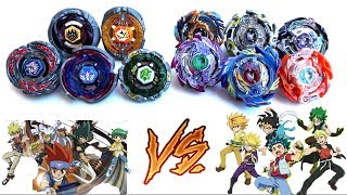 Download 4 SEASONS BLADERS vs GOD BEYBLADE BURST EVOLUTION |TEAM BATTLE OF GENERATIONS:4D METAL vs GOD LAYERS Video