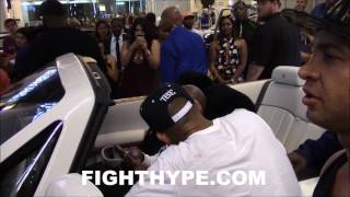 Download FLOYD MAYWEATHER IN SICK DROPHEAD ROLLS-ROYCE PHANTOM ATTRACTS A CROWD Video