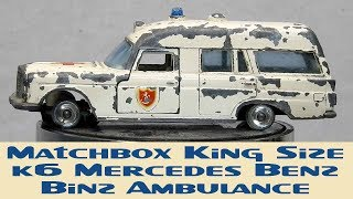 Download Matchbox Restoration King Size K6 Mercedes Benz Binz Ambulance Video