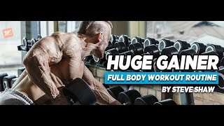 Download HUGE GAINER 3 Day Per Week Full Body Training Split | MASS GAINER Product Review Video