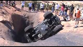 Download Jeep Rubicon flop in a Hells Revenge tub in Moab Video