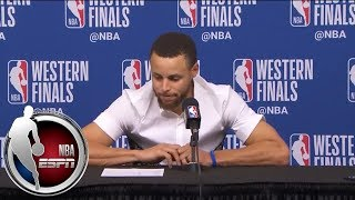 Download [FULL] Stephen Curry after Game 2 loss to Rockets: 'I'm feeling great' physically | NBA on ESPN Video