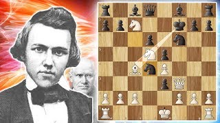 Download One of The Greatest Chess Games Ever Played - Morphy vs Anderssen 1858 (game 9) Video