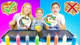 Download PANCAKE ART CHALLENGE 3 !!! - Mère VS Fils : Licorne, Pikachu, Bart Simpson ... Video