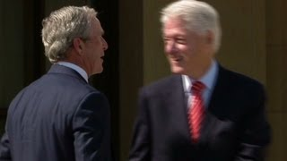 Download Clinton pokes fun at Bush's paintings Video