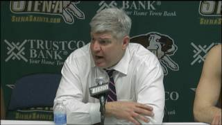 Download MBB Postgame Press Conference: Siena 76, Niagara 70 Video