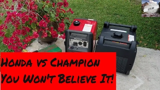 Download Honda EU3000 vs Champion 2800 you Won't Believe It! Video