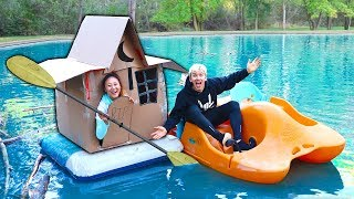 Download HAUNTED BOX FORT ON WATER!! Video