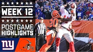 Download Giants vs. Browns | NFL Week 12 Game Highlights Video