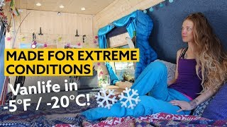 Download Female Skier Converts a Van to withstand Extreme Conditions | Vanlife in -5°F (-20°C) Video