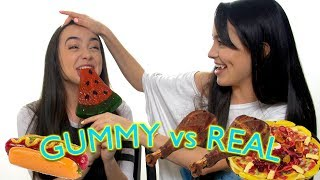 Download Gummy Food vs Real Food Challenge - Merrell Twins Video
