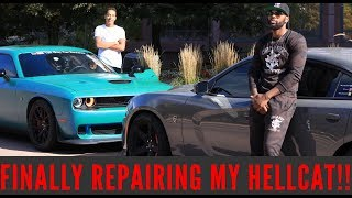 Download GETTING MY CRASHED HELLCAT FIXED WITH TALLGUYCARREVIEWS Video