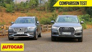 Download Audi Q7 VS Volvo XC90 | Comparison Test | Autocar India Video
