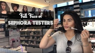 Download Full Face Using Sephora Testers?! | Yessi Waters Video