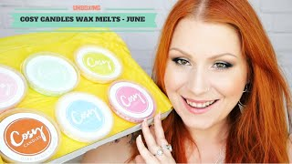 Download Cosy Candles June Wax Melt Monthly Subscription Unboxing Video