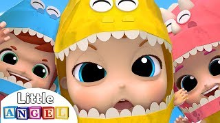 Download Baby Dino Dino Party | Dinosaur Song | Little Angel Nursery Rhymes Video