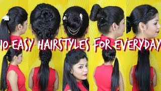 Download 10 Easy Hairstyles For Everyday | SuperPrincessjo Video
