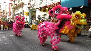 Download Chinese New Year Mini-Parade 2017 Chinatown San Francisco California Video