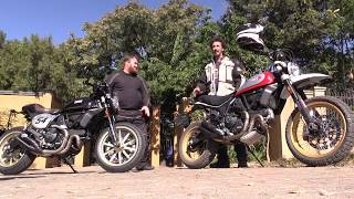 Download Ducati Scrambler Desert Sled and Cafe Racer Video