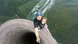 Download Climbing the tallest chimney in Europe Video