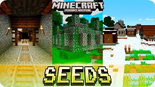 Download Minecraft PE Seeds - Jungle Temples, Mineshaft and Villages with Houses! MCPE 1.2 / 1.1 Video